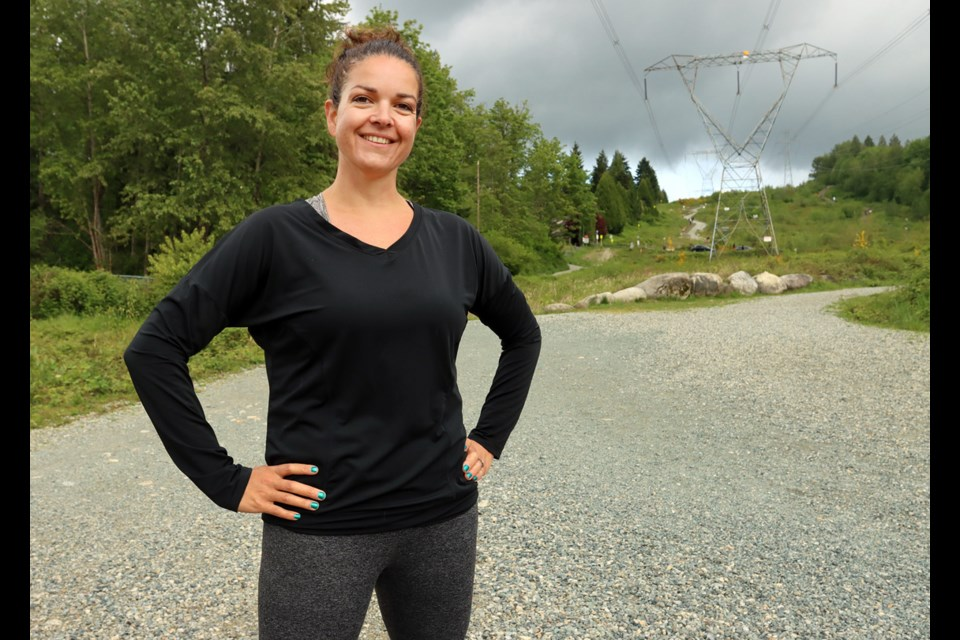 Jenn Geneve is more than 250 days into her quest to climb the Coquitlam Crunch every day for a year. She started by challenging herself to do 50 days in a row. PHOTO CREDIT: MARIO BARTEL/THE TRI-CITY NEWS